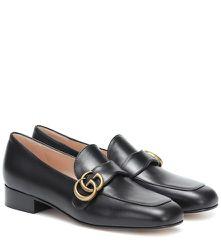 Mocassins Marmont en cuir - Gucci - Modalova