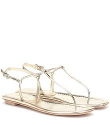 Sandales en cuir métallisé - Prada - Modalova