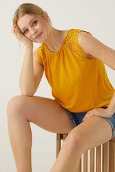 T-shirt uni paules dentelle - springfield - Modalova
