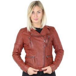 Blouson Blouson style perfecto en cuir ref_35282 Rust - Oakwood - Modalova