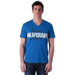 T-shirt T-shirt Col V Delmo Bleu et Imprimé - Kaporal - Modalova