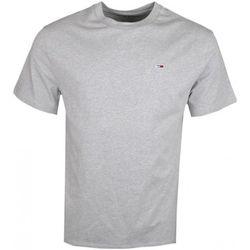 T-shirt T-shirt col rond gris basique régular - Tommy Jeans - Modalova