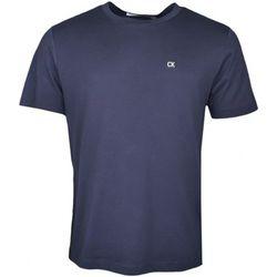 T-shirt T-shirt col rond bleu marine basique - Calvin Klein Jeans - Modalova