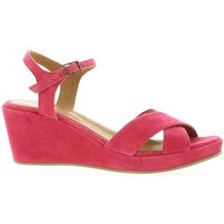 Sandales Nu pieds cuir velours framboise - Exit - Modalova