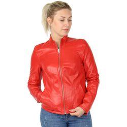 Blouson Blouson en cuir réversible ref_45894 Rouge - Akhesa - Modalova