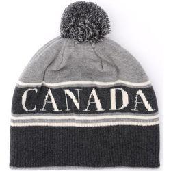 Bonnet Chapeau en laine grise avec pompon - Canada Goose - Modalova