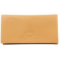 Portefeuille Porte monnaie cuir Camel - Longchamp - Modalova