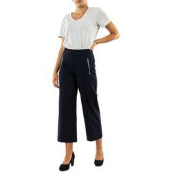 Pantalon ltd qr emee zip wide leg 11238 deep blue - Street One - Modalova
