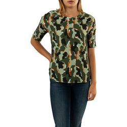 T-shirt camouflage mat mix 32440 shady olive - Street One - Modalova