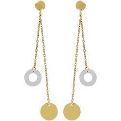 Boucles oreilles Boucles d'oreilles pendantes chaines/cercles or - Brillaxis - Modalova