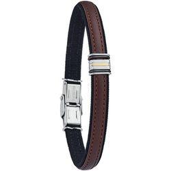 Bracelets Bracelet Gois cuir, acier, or 18 carats - Jourdan - Modalova