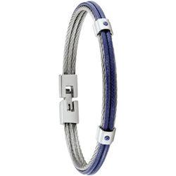 Bracelets Bracelet Fuf acier et cordelette bleue - Jourdan - Modalova