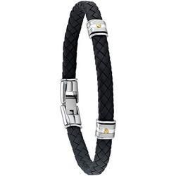 Bracelets Bracelet Hudson cuir synthétique noir - Jourdan - Modalova