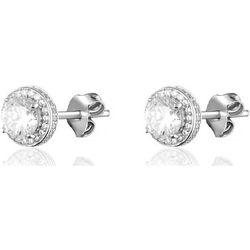 Boucles oreilles BO puces IMPERIAL - Cristal - Argenté  - Agatha Ruiz de la Prada - Modalova
