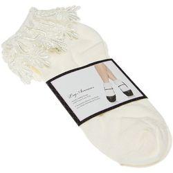 Chaussettes Chaussettes Courtes - Acrylique - Anklet socks Venice lace top - Leg Avenue - Modalova