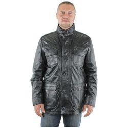 Veste veste en cuir agneau ref_31296-noir - Pallas Cuir - Modalova