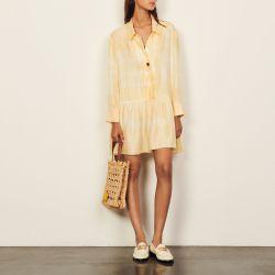 Short tie-dye silk dress - Sandro - Modalova
