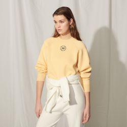 Knit sweatshirt with embroidery - Sandro - Modalova