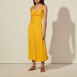 Long dress with narrow straps - Sandro - Modalova