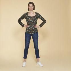 Promo : Tee-shirt imprimé manches longues ajustables - Imprimé Kaki - 3 SUISSES - Modalova