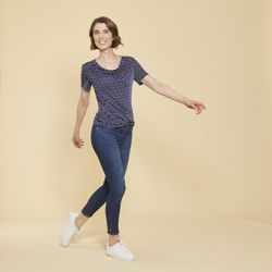 Promo : T-shirt manches courtes imprimé pois - 3S. x Le Vestiaire - Modalova