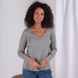 Promo : Tee-shirt en coton bio col V Alba - 3S. x Le Vestiaire - Modalova
