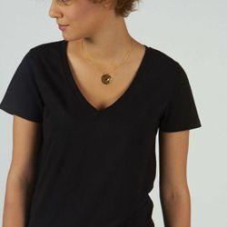 Promo : Tee-shirt en coton bio col V Anna - 3S. x Le Vestiaire - Modalova