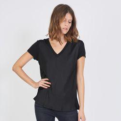 Promo : Tee-shirt manches courtes col V Agnès - 3S. x Le Vestiaire - Modalova