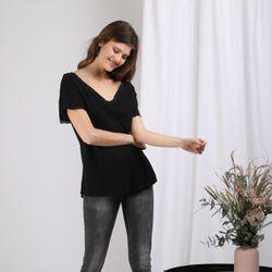Promo : Tee-shirt manches courtes col V Karel - 3S. x Le Vestiaire - Modalova
