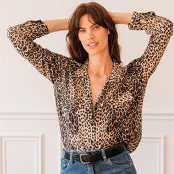 Promo : Chemise manches longues léopard Diane - 3S. x Le Vestiaire - Modalova