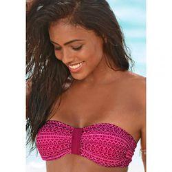 Haut de maillot de bain bandeau imprimé - Rose - Venice Beach - Modalova