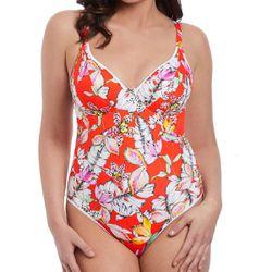Promo : Maillot de bain une pièce plunge s WILD FLOWER orange-s - Freya maillot - Modalova