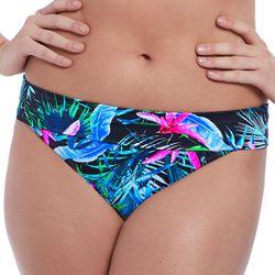 Promo : Culotte de bikini taille ajustable s JUNGLE FLOWER black tropical-s - Freya maillot - Modalova