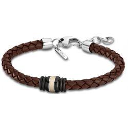 Bracelet Lotus Style - Bracelet Urban Man Tressé Marron - LS1814-2-4 - Modalova