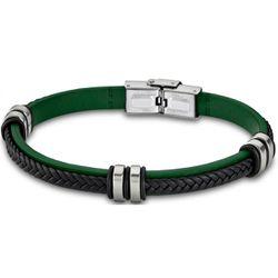 Bracelet Lotus Style - Bracelet Urban Man Tressé Vert Et Noir - LS1829-2-2 - Modalova