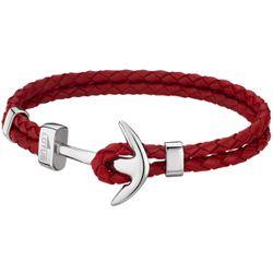 Bracelet Lotus Style - Bracelet Urban Man Double Tressés Rouge Ancre Acier - LS1832-2-2 - Modalova