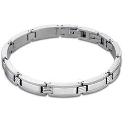 Bracelet Men In Black - Bracelet Maillons Argent - LS1589-2-1 - Modalova