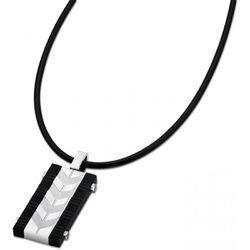 Collier et pendentif Men In Black - Collier et pendentif Acier Céramique Noir - LS1729-1-2 - Modalova