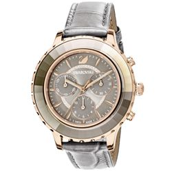 Montre Swarovski Montre 5452495 - Montre Octea Lux Cuir Gris - Swarovski montres - Modalova