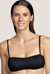 Haut de maillot de bain bandeau rembourré Kathryn Black - Dessus Dessous_Affiliate - Modalova