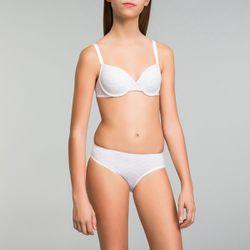 Culotte fille blanche imprimé logo - Touch - DIM - Modalova
