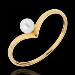 Bague perle Olga or jaune 18 carats - Edenly - Modalova