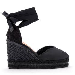 Sandale à semelle compensée Chiara en canvas noir - Castañer - Modalova