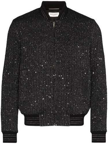 Veste bomber Teddy en tweed - Saint Laurent - Modalova