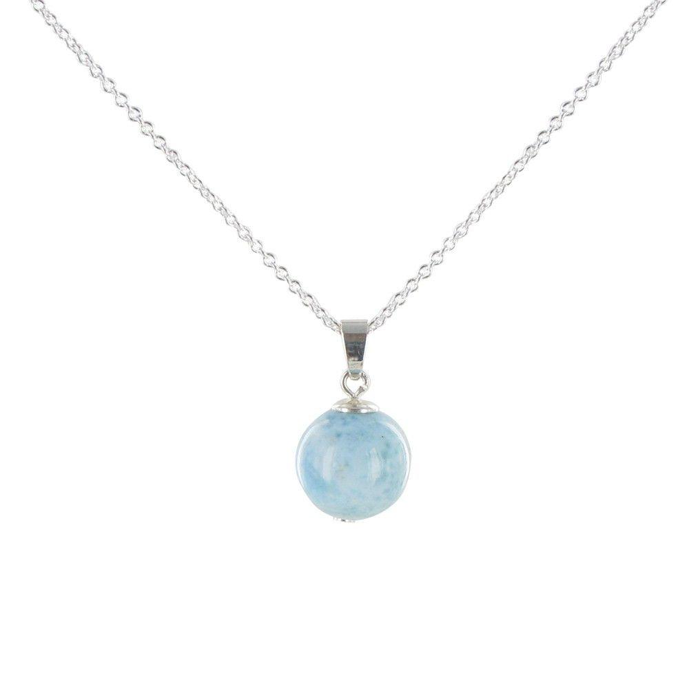 Collier Perle de Larimar et Chaine Argent - LES POULETTES BIJOUX - Modalova