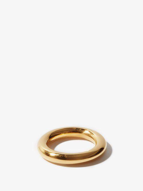 Bague en argent sterling plaqué or - Jil Sander - Modalova