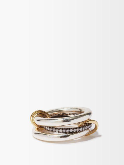 Bague en or, argent sterling et diamants Libra - Spinelli Kilcollin - Modalova