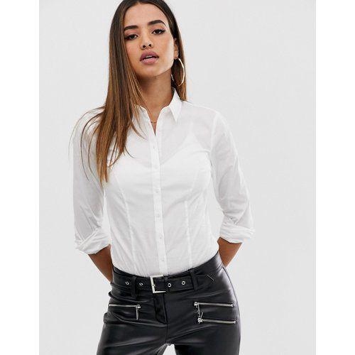 Body chemise à manches longues en coton stretch - ASOS DESIGN - Modalova
