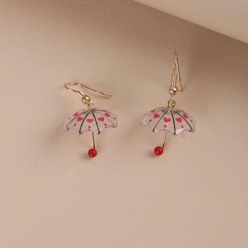 Pendants d'oreilles avec parapluie - SHEIN - Modalova