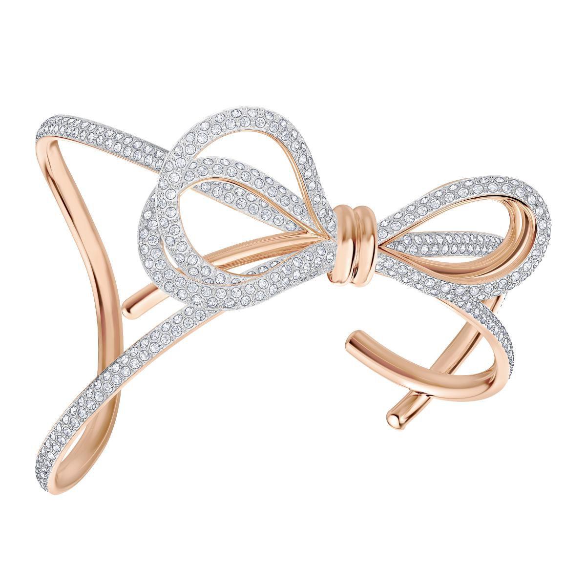 Promo : Bracelet - Bracelet Manchette Noeud Papillon Doré Ro ...